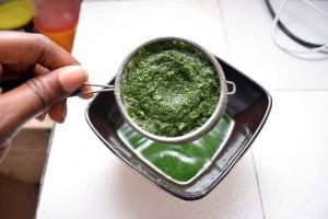 Green Drink sieve
