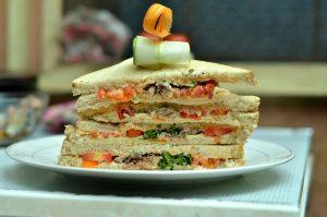 Tomato sardine mayoup Sandwich