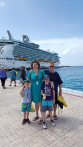 On the pier in Cozumel as we returned to the Navigator of the Seas.