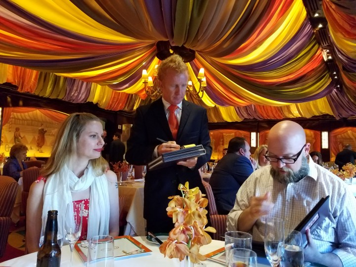 Ordering dinner at Le Cirque