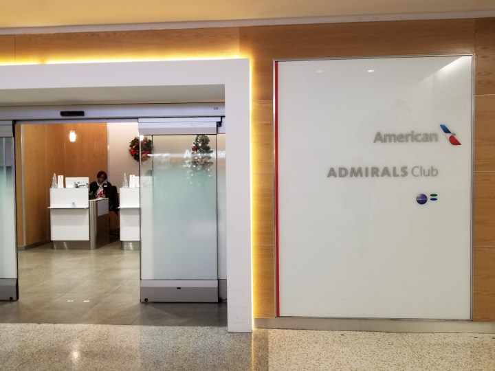 The door to the IAH Admiral's Club in Terminal A