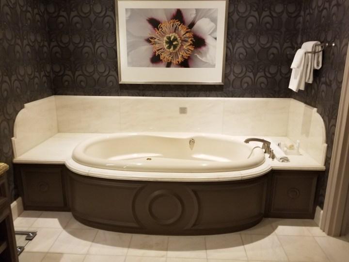 Bellagio two bedroom penthouse suite updated dine drink travel for Discount bathroom vanities las vegas