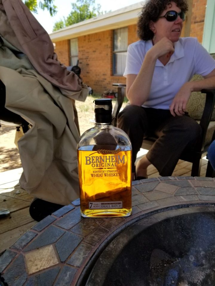 Bernheim Wheat Whiskey. The John Brawley Tophat West Texas Bourbon Society gathered for our first podcast.