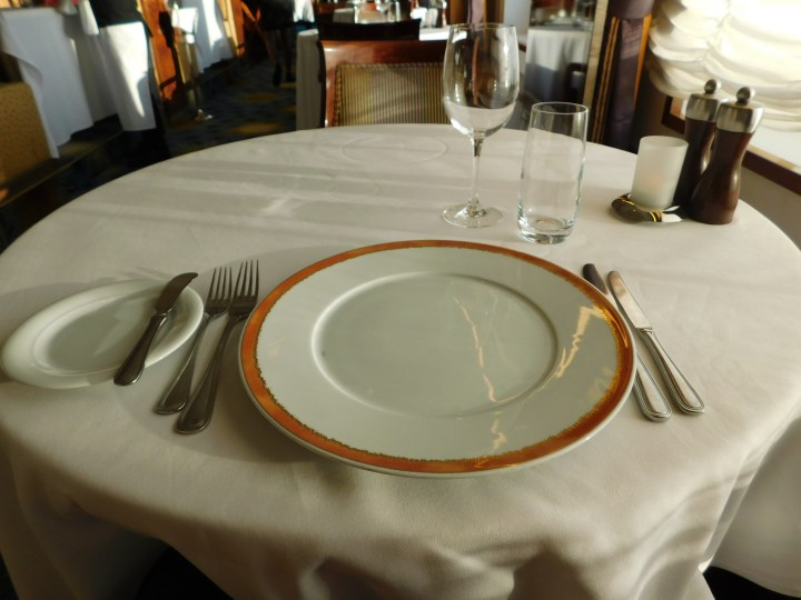 Place setting at Le Bistro.