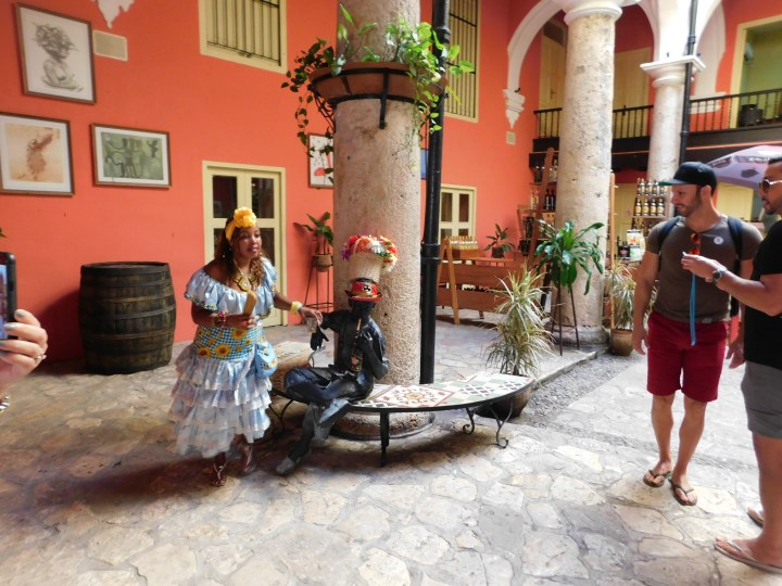 Lobby of the Havana Club rum factory. This was the first stop on my Havana shore excursion.