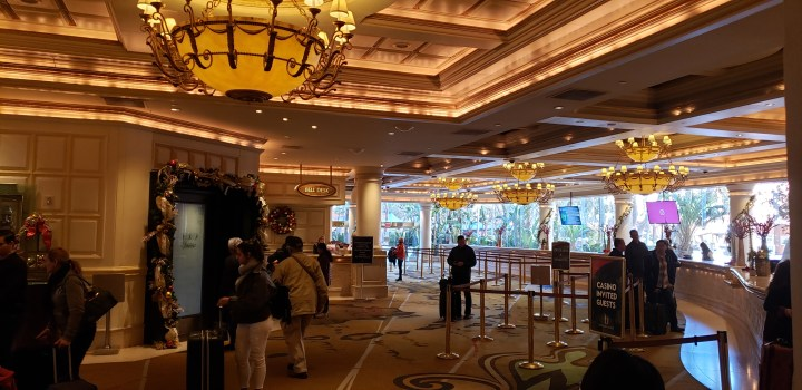 The Treasure Island VIP Room door is on the left.
