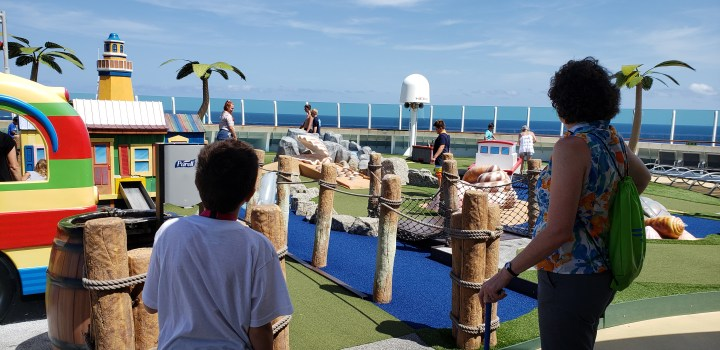 In addition to Adventure Ocean, the Liberty of the Seas has options like the miniature golf course.