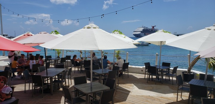 The seating at Cayman Cabana offered gorgeous views.