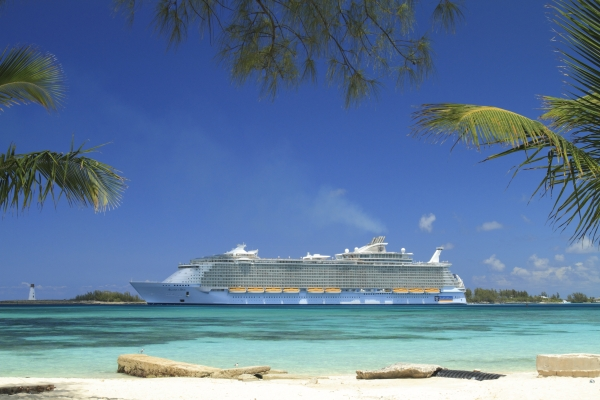 Allure of the Seas Galveston sailings start November 10, 2021. The Allure is pictured here in Nassau, Bahamas.