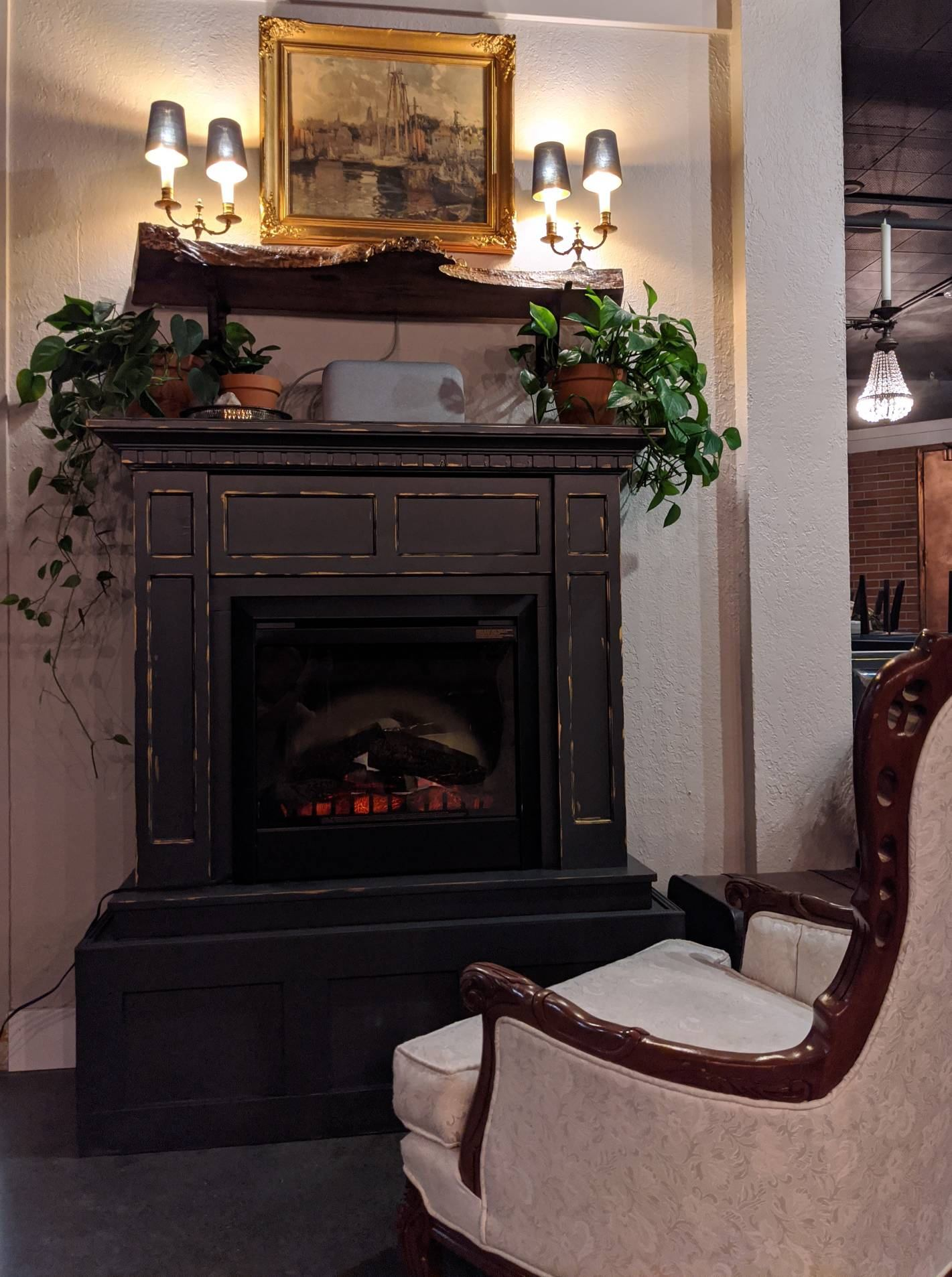 Gilman House fireplace