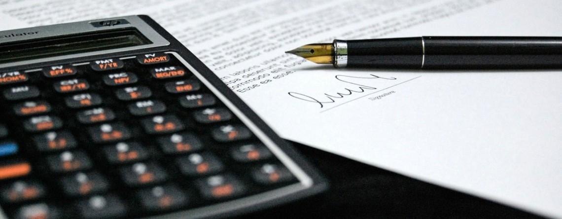calculator and signature