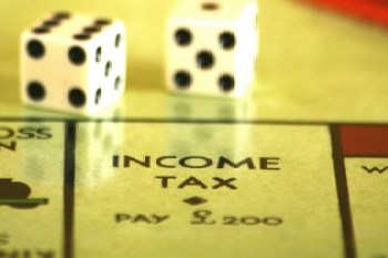 Income Tax space on Game Board