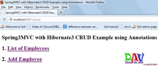Spring MVC with Hibernate CRUD