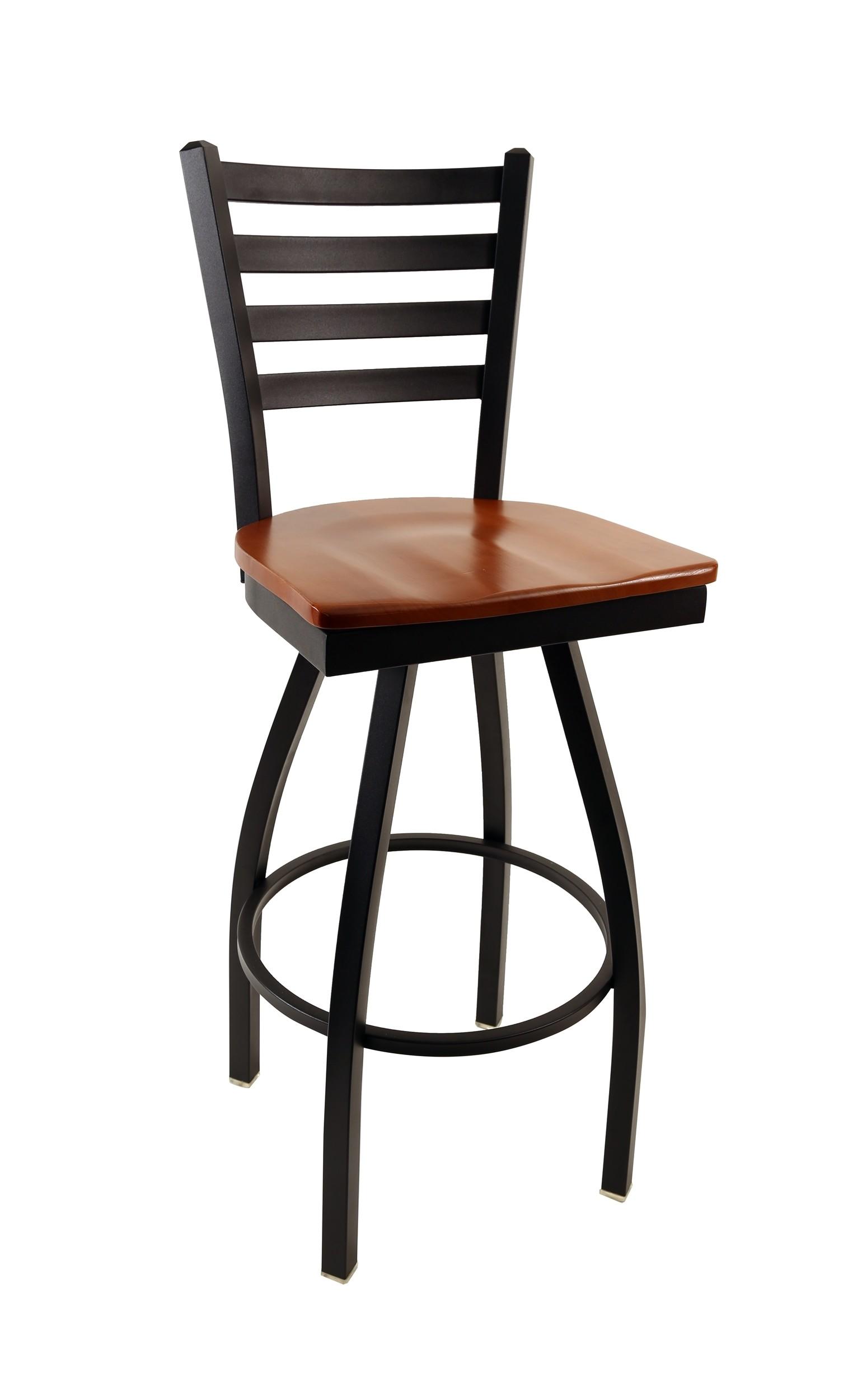 Commercial Ladder Back Metal Swivel 30 Bar Stool Dinette Online