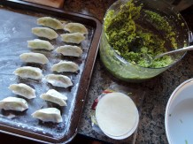 Forming the dumplings