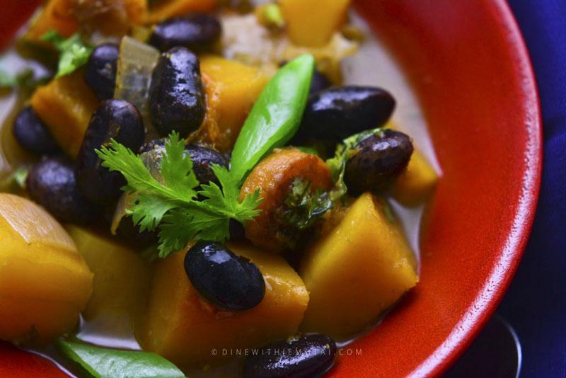Butternut Squash Stew in a bowl