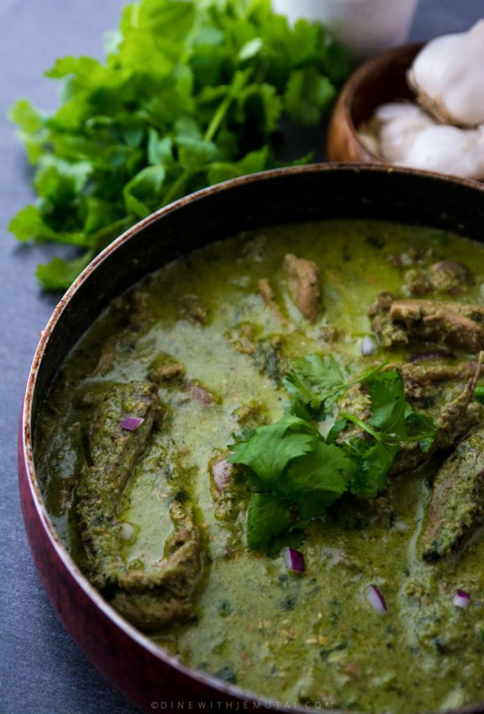 Cooked Thai green curry