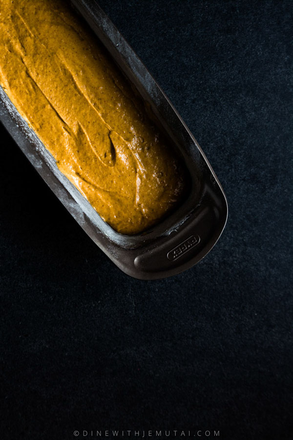 Butternut Squash Loaf Batter