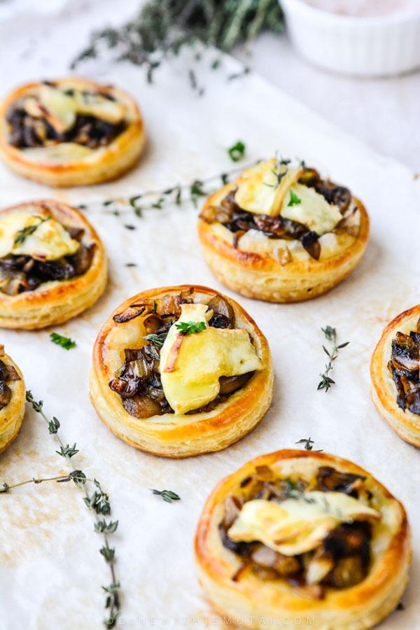 Caramelised Onion Mushroom Tarts