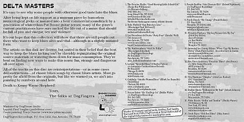 CD booklet interior lyric sheet