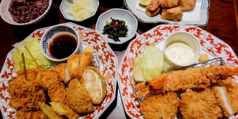 台南中西區美食 新光三越B2美食街「銀座杏子日式豬排」,有季節限定海陸大餐,還有無限續的沙拉、小菜、越光米飯、味噌湯!