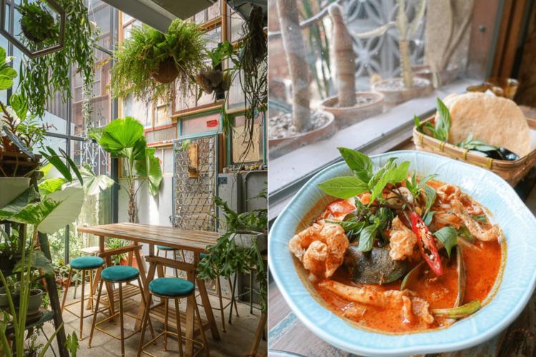 台南中西區泰式料理|植感大叔的日常,一週僅營業三天,預約制泰式料理,可享受被植栽、花包圍的用餐空間。