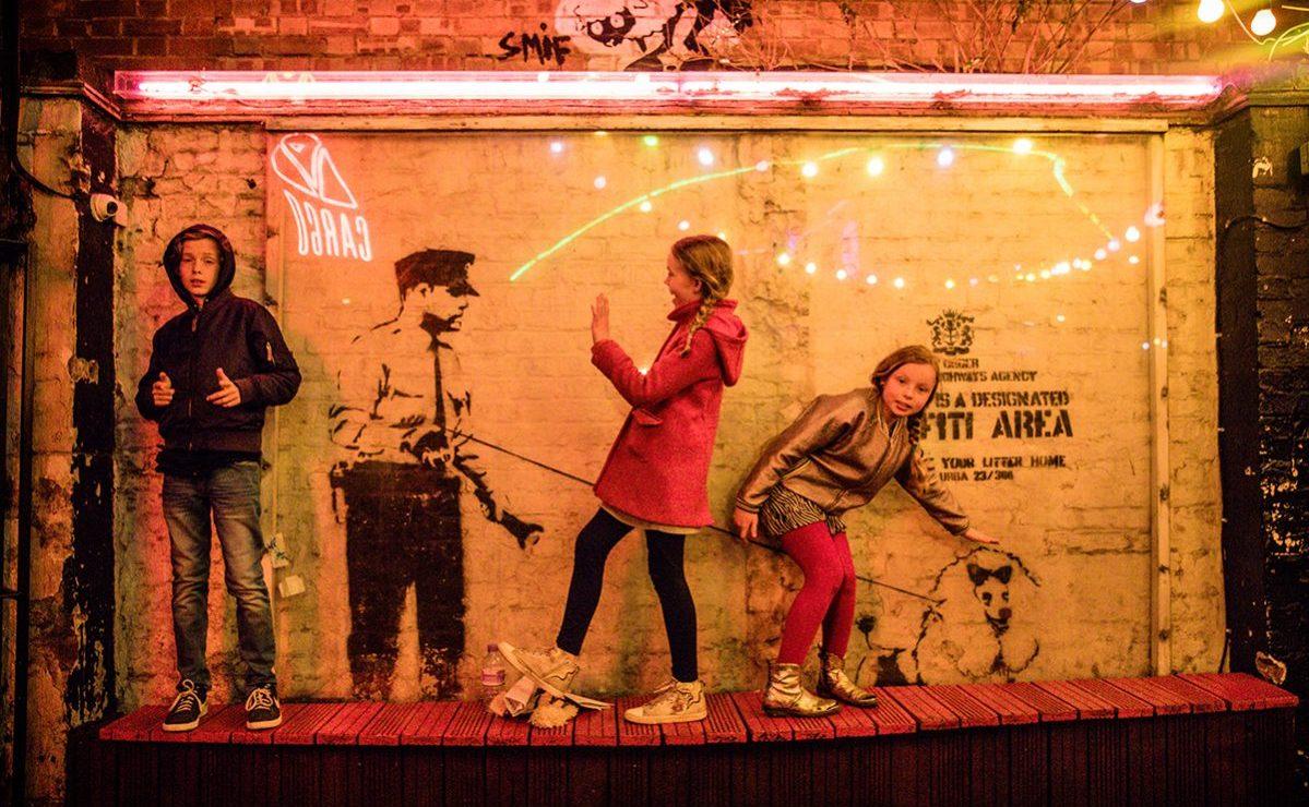 Londen met kinderen: Shoreditch Banksy Londen