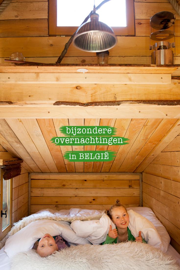 kindvriendelijk hotel in de Ardennen, slapen in een boomhut.