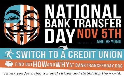 Bank Transfer Day Is A Success! One Million People Move Their Money