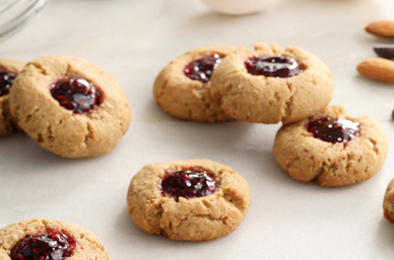 Healthy, Lovely Raspberry-Chocolate Cookies