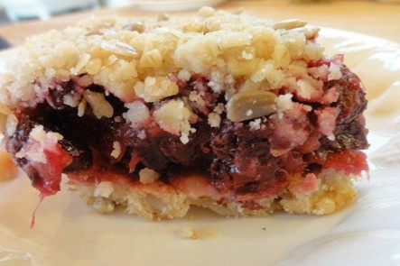 Carnberry ginger bar.  Heaven in a gluten and sugar free recipe.