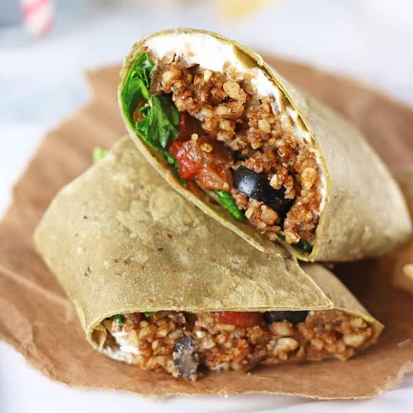 Vegan Taco Wraps from V Nutrition