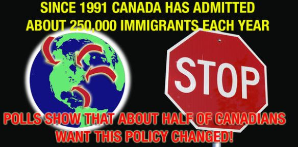 Tell Canada's politicians to cut our immigration intake.