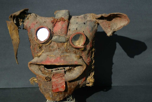 Leather 'Tigre' Mask from Zitlala, Mexico