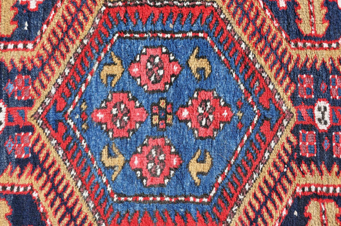 SOLD — Sarabi Heriz Persian Tribal Runner — 11 ft. 4 in. by 3 ft. 5 in. — $439