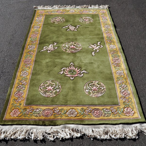 Chinese Green Bat Rug C0020
