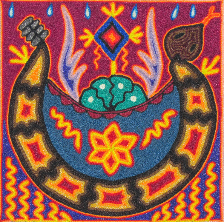 Huichol Rattlesnake with Peyote