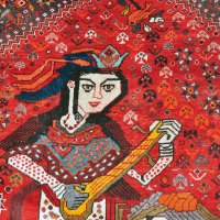 Qashqai Rug with Women Musicians
