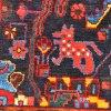 Hamadan Carpet -- birds, foxes, camels