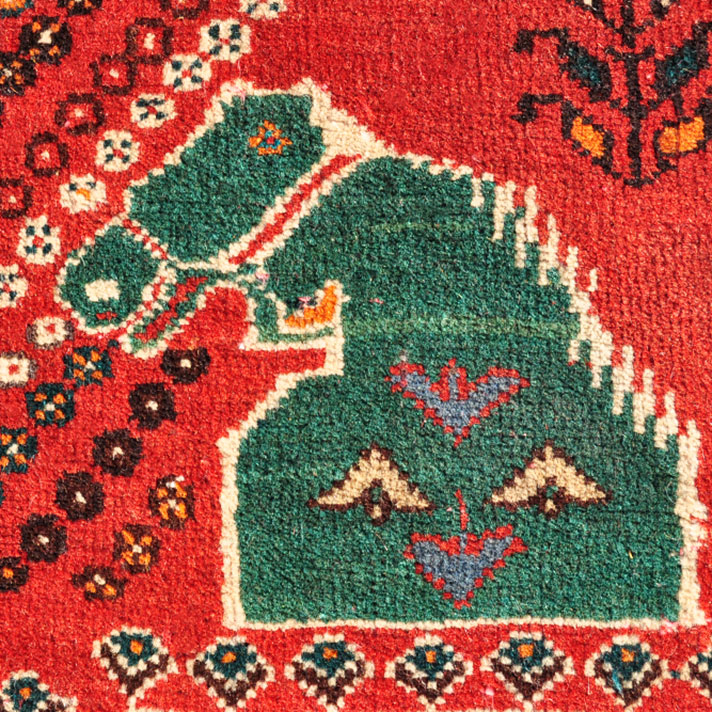 Qashqai Green horse rug