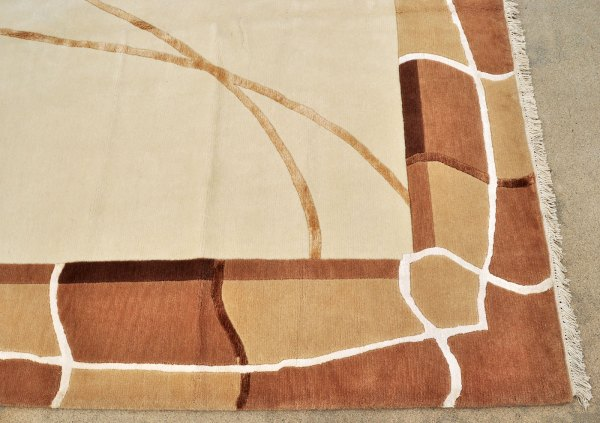 Nepal Tibet mid century modern rug