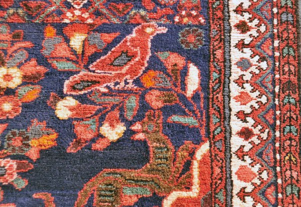 Iran -- Green dogs rug