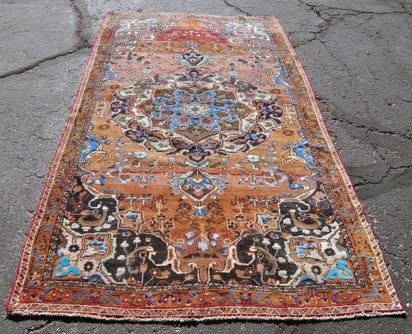 Vibrant tribal carpet Iran