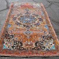 Vibrant tribal carpet Iran