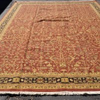 Large soumak reddish rug