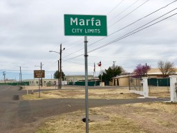 Marfa street sign