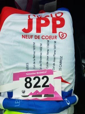 Dingue de vélo - dossard sur le dos OK pour la JPP 2018