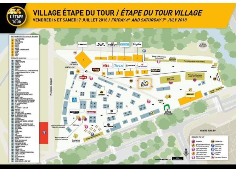 dingue de vélo - plan du village départ de l'EDT 2018