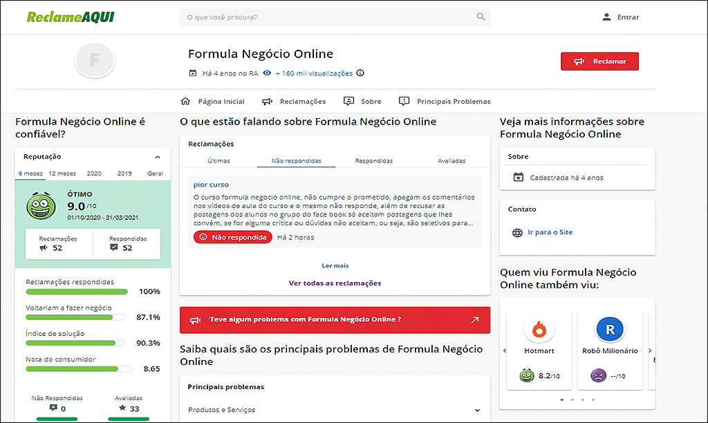 formula de negócio online gratis