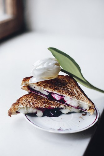 Stunning Goat and Blackberry Jam Grilled cheese